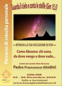 Ritiro spirituale come Abramo con P. Francesco Ghidini